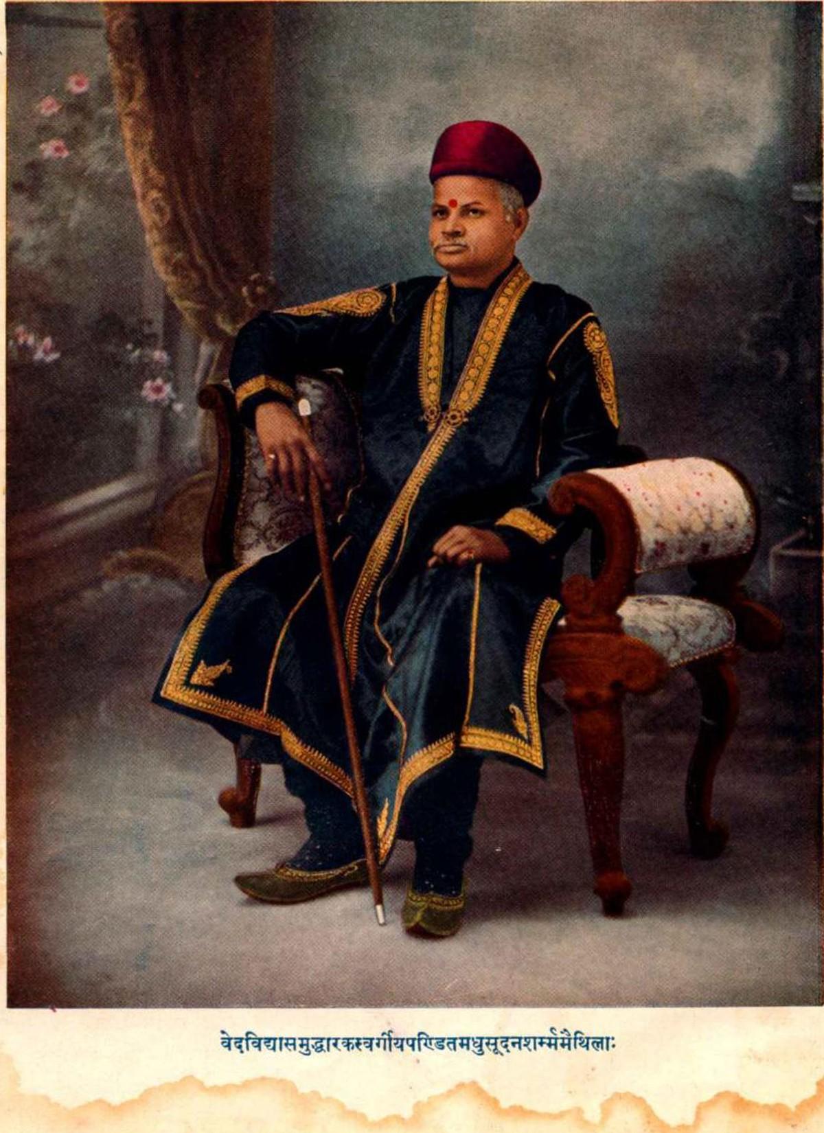 Madhusudan Ojha from Mithila