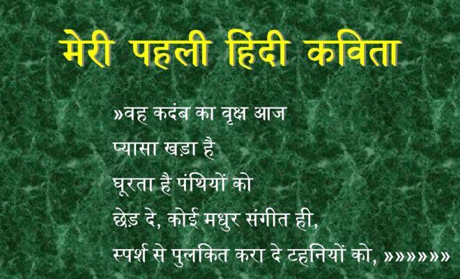 मेरी पहली हिंदी कविता